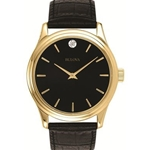Black-Gold Tone Watch - Mens or Ladies  (click here to choose mens or ladies)  - 20 Years Service Award